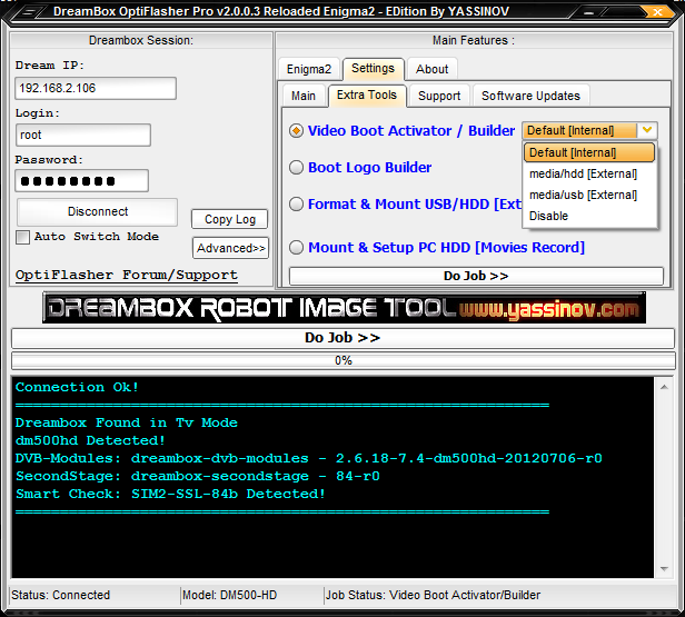 Dreambox OptiFlasher v2.0.0.3 Pro Enigma2 EDition Released
