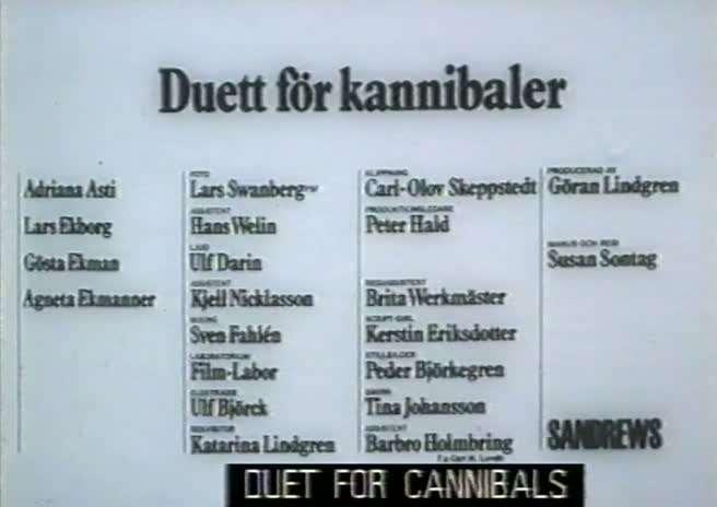 vlcsnap00951 Susan Sontag   Duett för kannibaler AKA Duet for Cannibals (1969)
