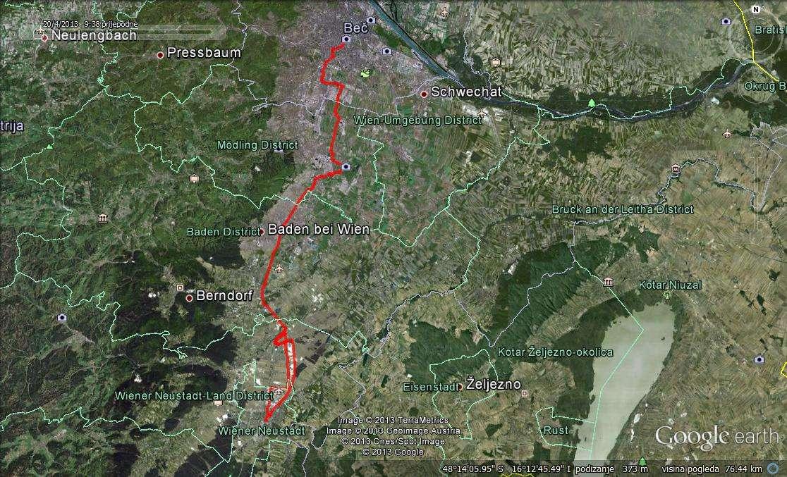 Google maps - Wien - Wiener Neustadt