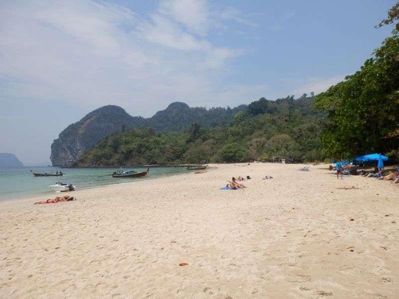 der Strand zur Rechten