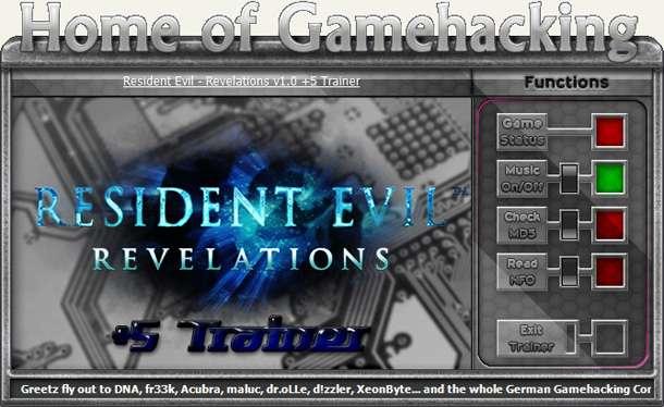 Resident Evil: Revelations +5 Trainer [HoG]