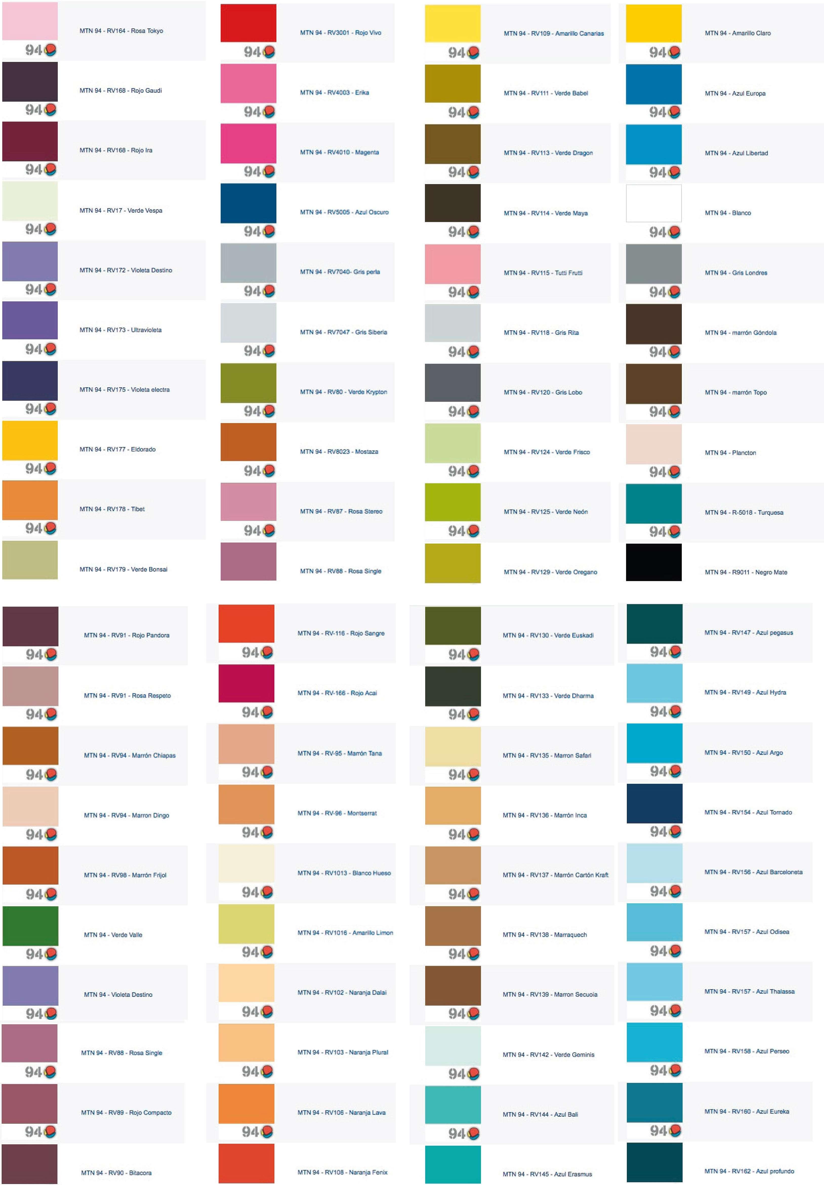 Pinturas gama de colores imagui - Gama de colores de pinturas ...