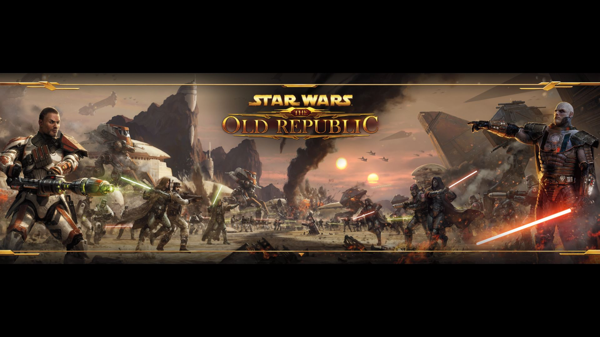 Star Wars The Old Republic Wallpaper Dark And Light Side Battle Gaming Phanatic