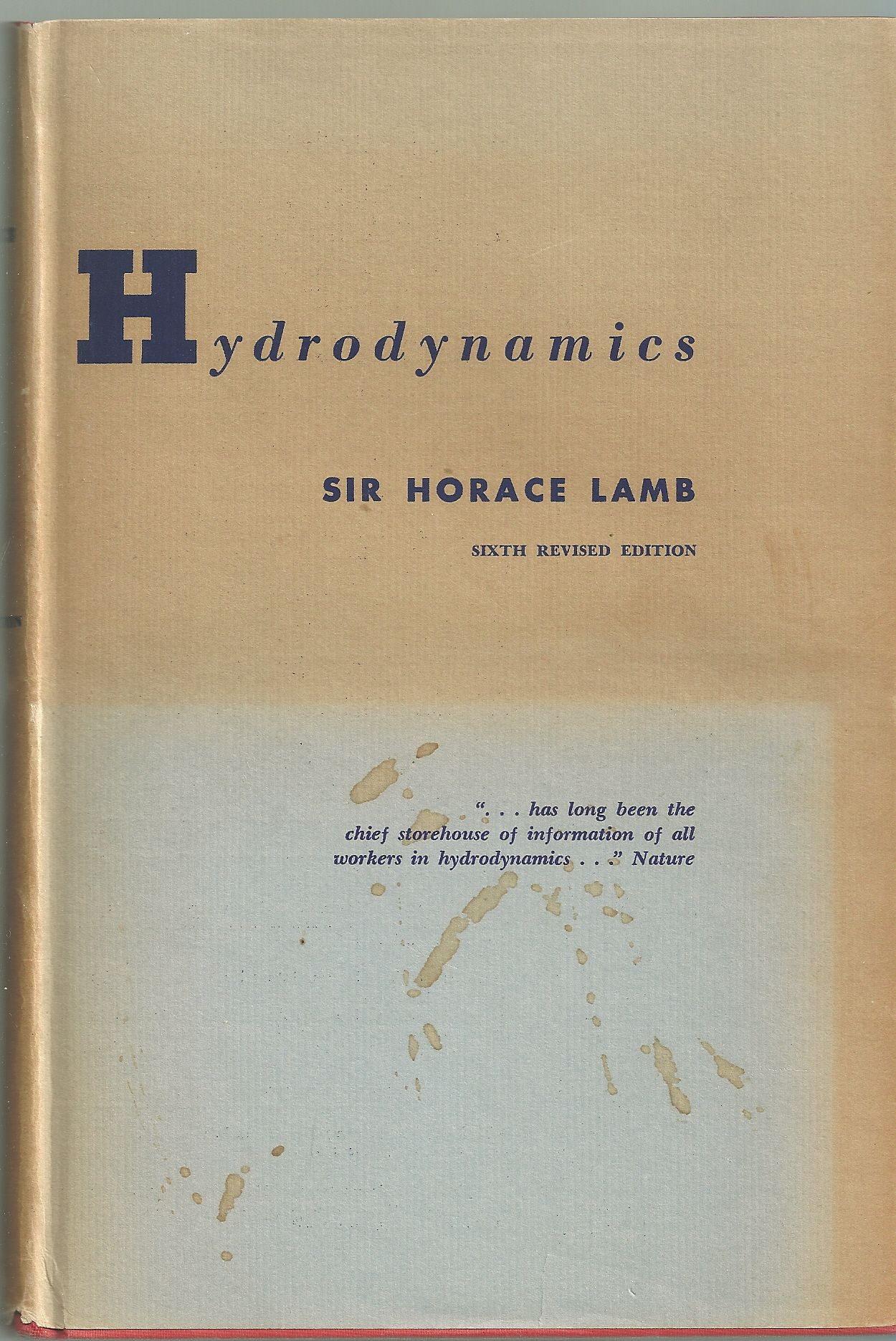 Hydrodynamics. First American Edition.