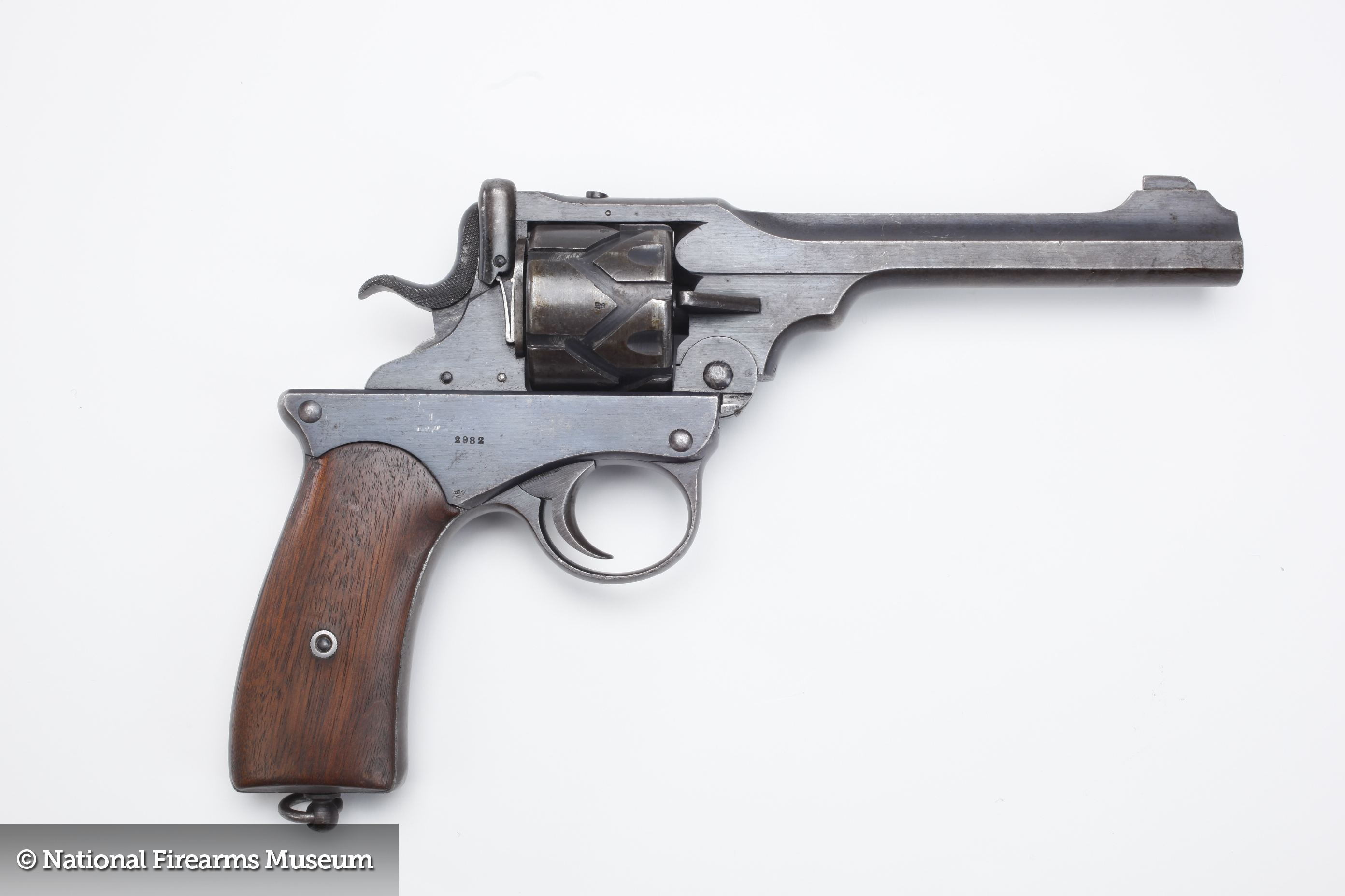 Webley-Fosbery Self-Cocking Automatic Revolver - Integrated Close